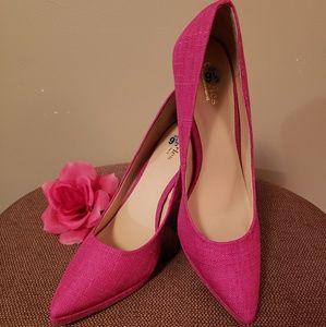 🎀Charles David hot pink heels size 9 1/2